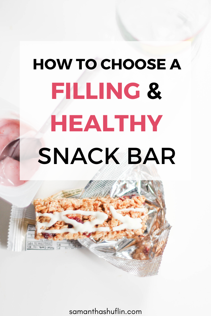 How to Choose A Filling and Healthy Snack Bars