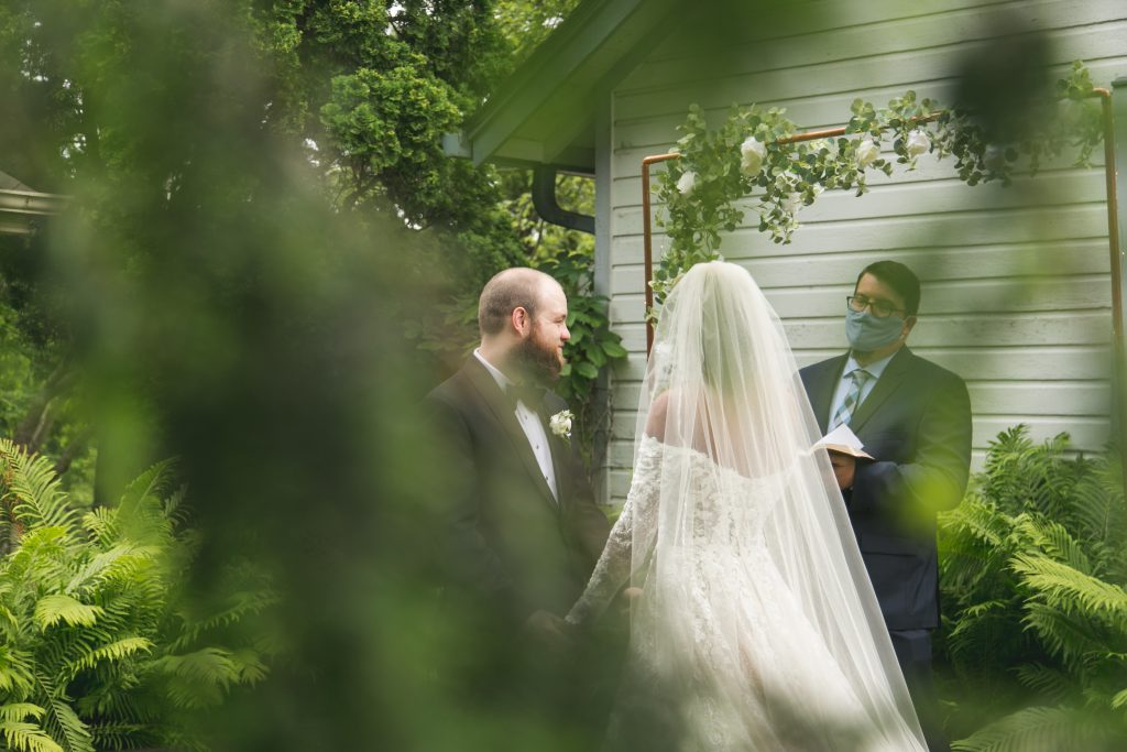 summer garden backyard wedding